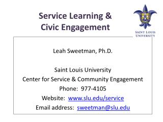 Service Learning &  Civic Engagement