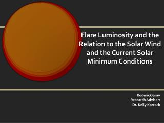 Flare Luminosity and the Relation to the Solar Wind and the Current Solar Minimum Conditions