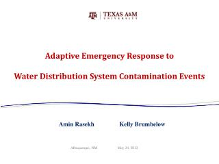 Adaptive Emergency Response to  Water Distribution System Contamination Events