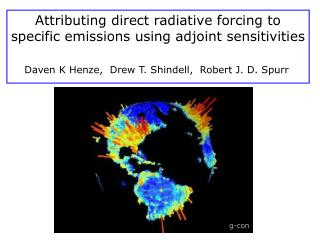 Attributing direct  radiative  forcing to specific emissions using  adjoint  sensitivities