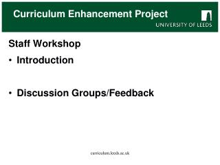 Curriculum Enhancement Project