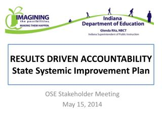 RESULTS DRIVEN ACCOUNTABILITY State Systemic Improvement Plan