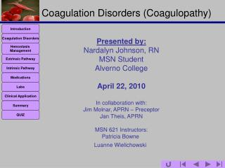 Coagulation Disorders (Coagulopathy)