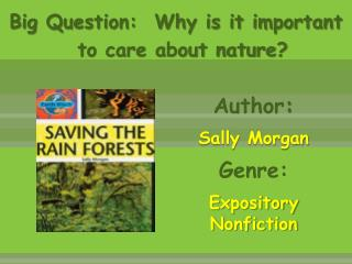 Author :   Sally Morgan Genre:  Expository Nonfiction