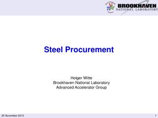 Steel Procurement