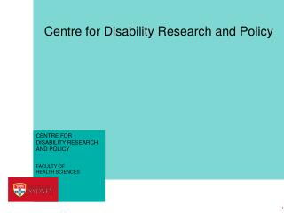 Centre for Disability Research and Policy