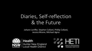 Diaries, Self-reflection & the Future