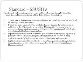 Standard – SSUSH 5