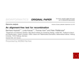 An alignment-free test for recombination