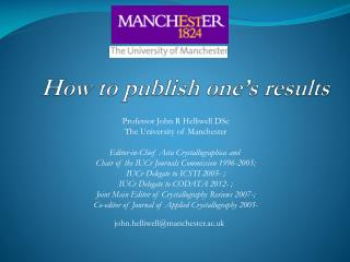 How to publish one's results