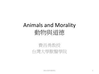 Animals and Morality  動物與道德