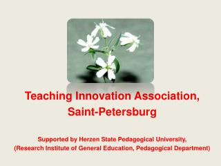 Teaching Innovation Association,  Saint-Petersburg