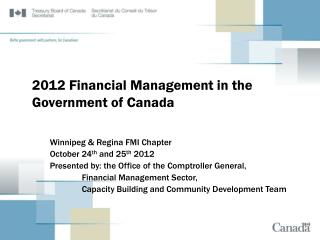2012 Financial Management in the Government of Canada