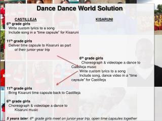 Dance Dance World Solution