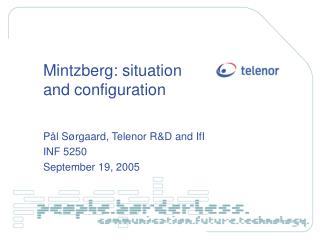 Mintzberg: situation and configuration