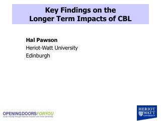 Hal Pawson Heriot-Watt University Edinburgh