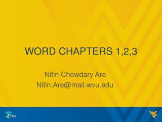 Word chapters 1,2,3