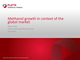 Methanol growth in context of the global market