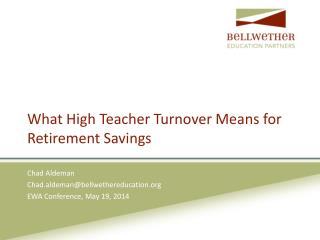 What High Teacher Turnover Means for Retirement Savings