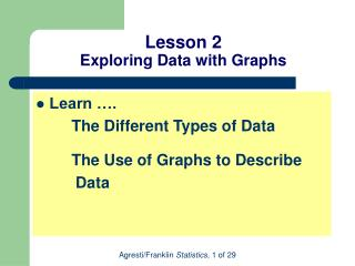 Lesson 2 Exploring Data with Graphs