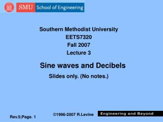 Sine waves and Decibels