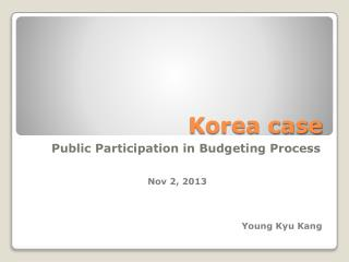 Korea case
