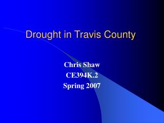 Drought in Travis County