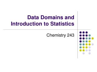 Data Domains and Introduction to Statistics