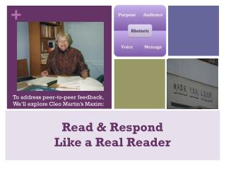 Read & Respond Like a Real Reader