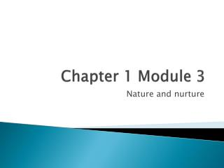 Chapter 1 Module 3