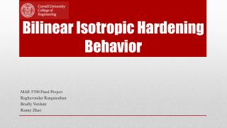 Bilinear Isotropic Hardening Behavior
