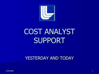 COST ANALYST SUPPORT