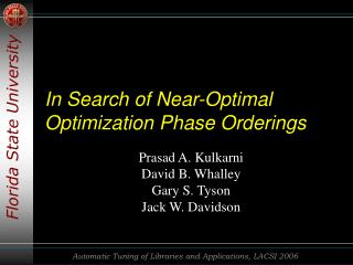 In Search of Near-Optimal Optimization Phase Orderings