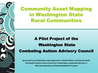 Community Asset Mapping  in Washington State  Rural Communities