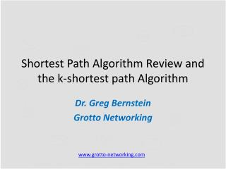 Shortest Path Algorithm Review and the k-shortest path Algorithm