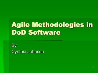 Agile Methodologies in DoD Software