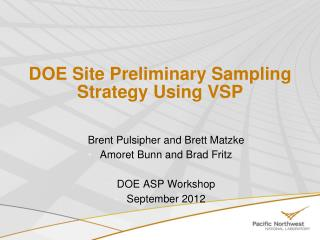 DOE Site Preliminary Sampling Strategy Using VSP