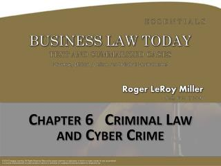 Chapter  6   Criminal Law and Cyber Crime