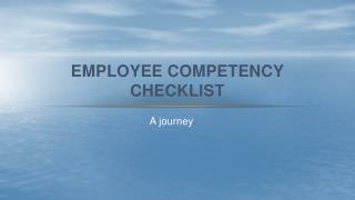 Employee Competency Checklist