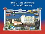 BelSU   the university of the XXI century