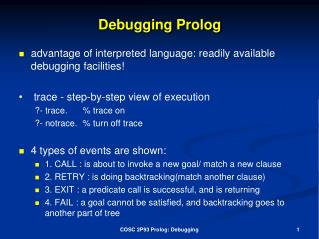 Debugging Prolog