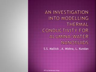 An investigation into  modelling  thermal conductivity for alumina–water  nanofluids
