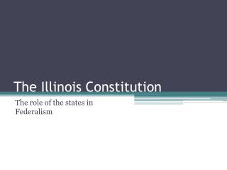 The Illinois Constitution