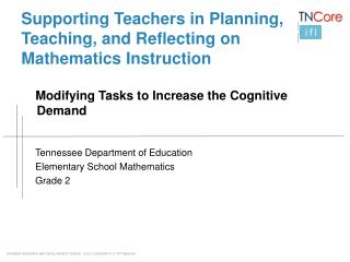 Supporting Teachers in Planning, Teaching, and Reflecting on Mathematics Instruction