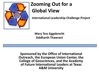 Zooming Out for a  Global View International Leadership Challenge Project