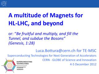A multitude of Magnets for HL-LHC, and beyond