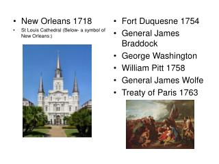 New Orleans 1718 St Louis Cathedral (Below- a symbol of New Orleans:)
