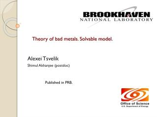 Theory of bad metals. Solvable model.