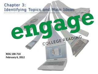 Chapter 3: Identifying Topics and Main Ideas