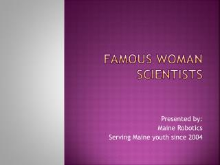 Famous woman scientists